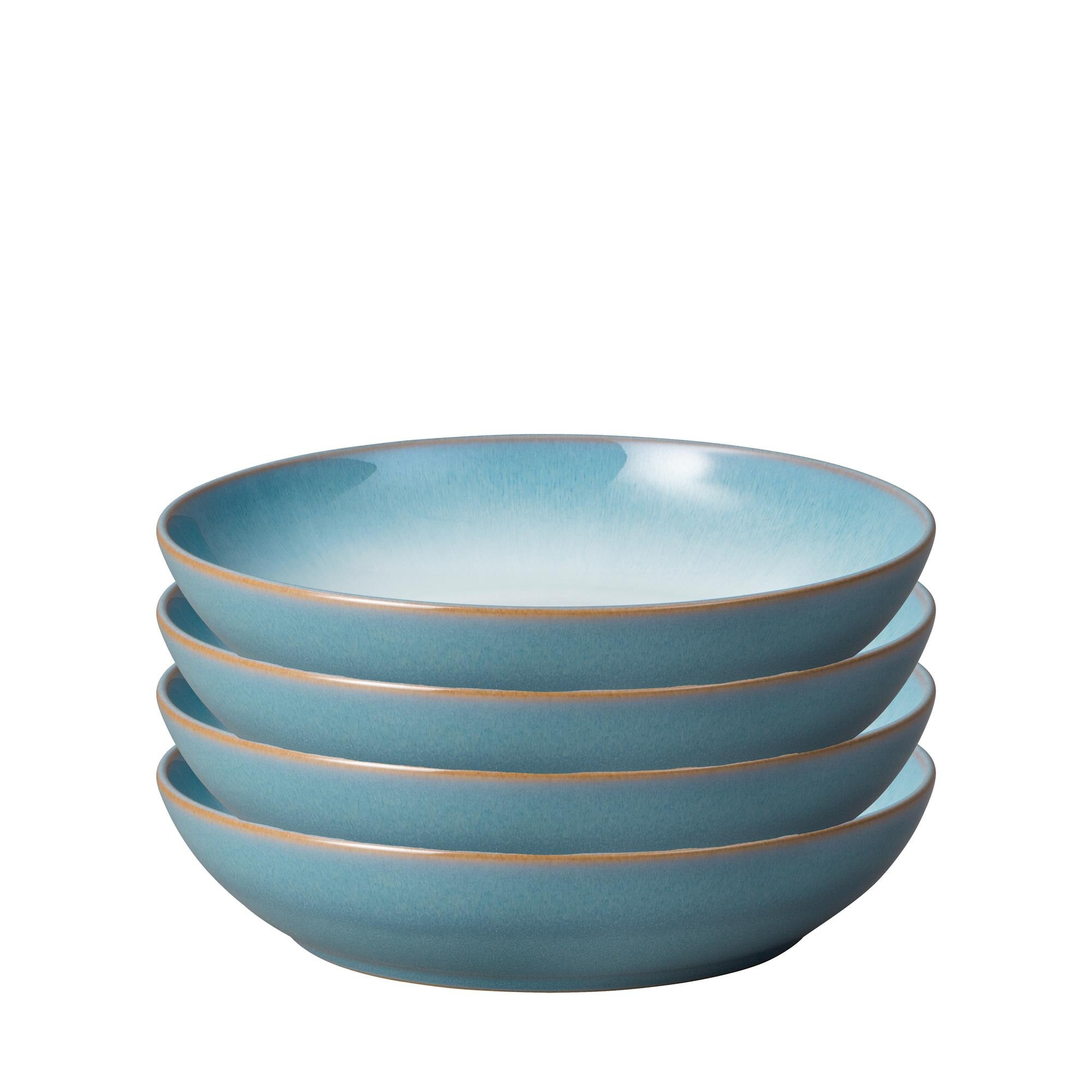 Compare prices for Azure Haze Set of 4 Coupe Pasta Bowls