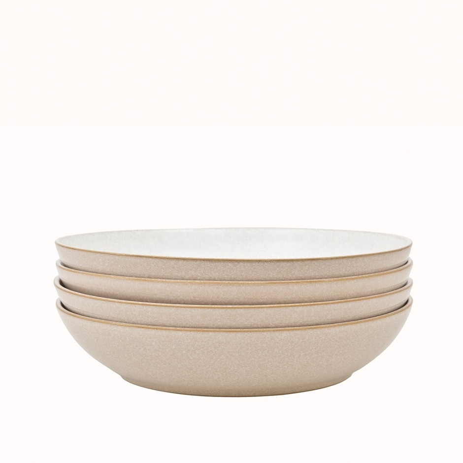 Elements Natural 4 Piece Pasta Bowl Set