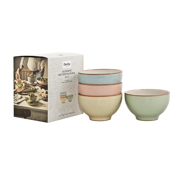 Compare prices for Denby Always Entertaining Deli 4 Piece Small Bowl Set