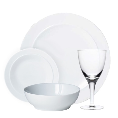 White Dinnerware Collection Denby Pottery