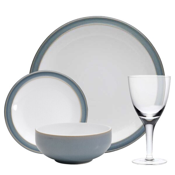 Compare prices for Denby Azure 16 Piece Entertaining Set