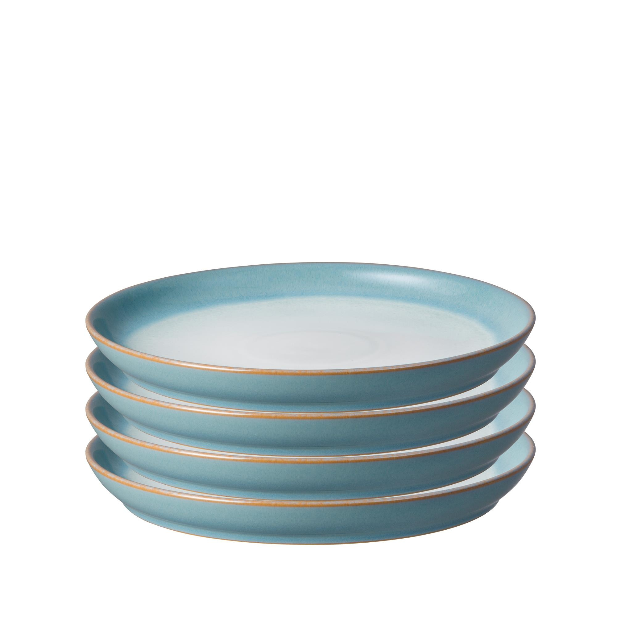 Compare prices for Azure Haze Set of 4 Coupe Medium Plates