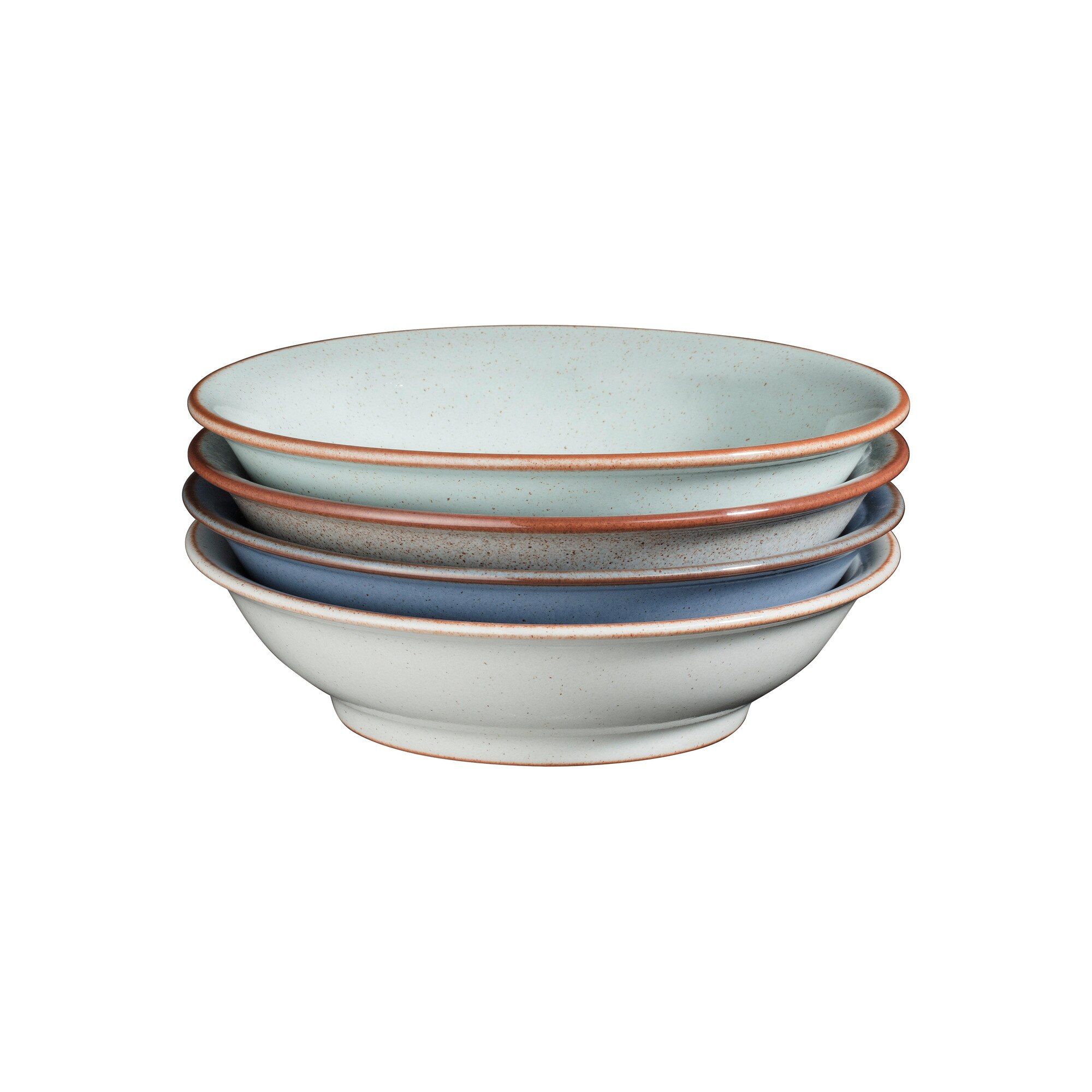 Compare prices for Denby Always Entertaining - The Blue Edit 4 Piece Medium Shallow Bowl Set