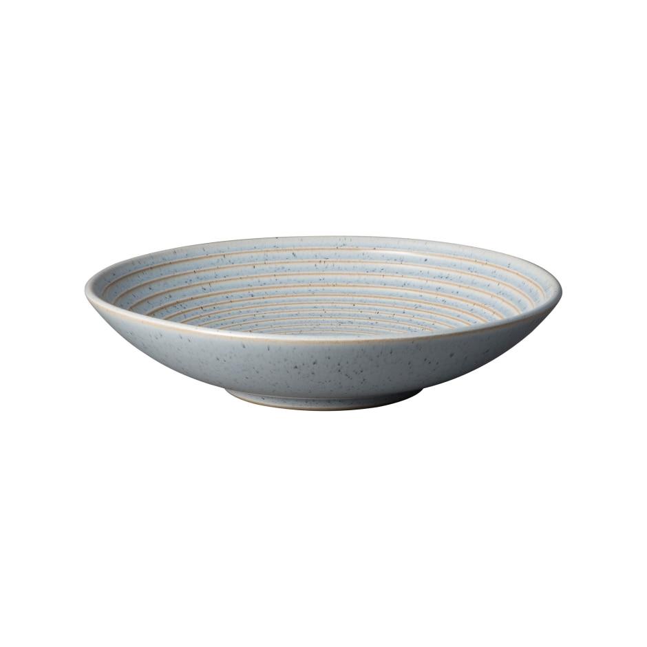 Studio Blue Pebble Medium Ridged Bowl Denby Pottery