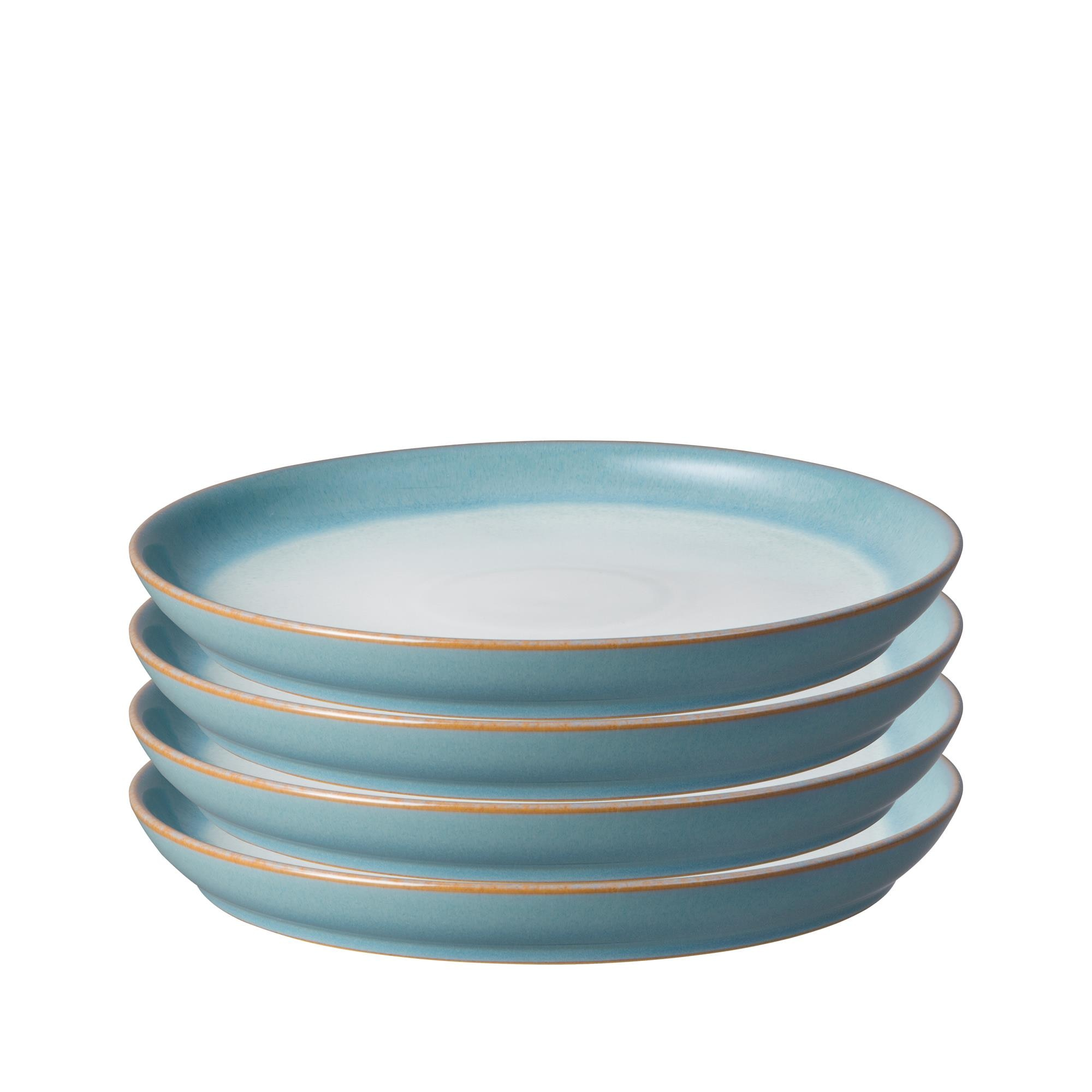 Compare prices for Azure Haze Set of 4 Coupe Dinner Plates