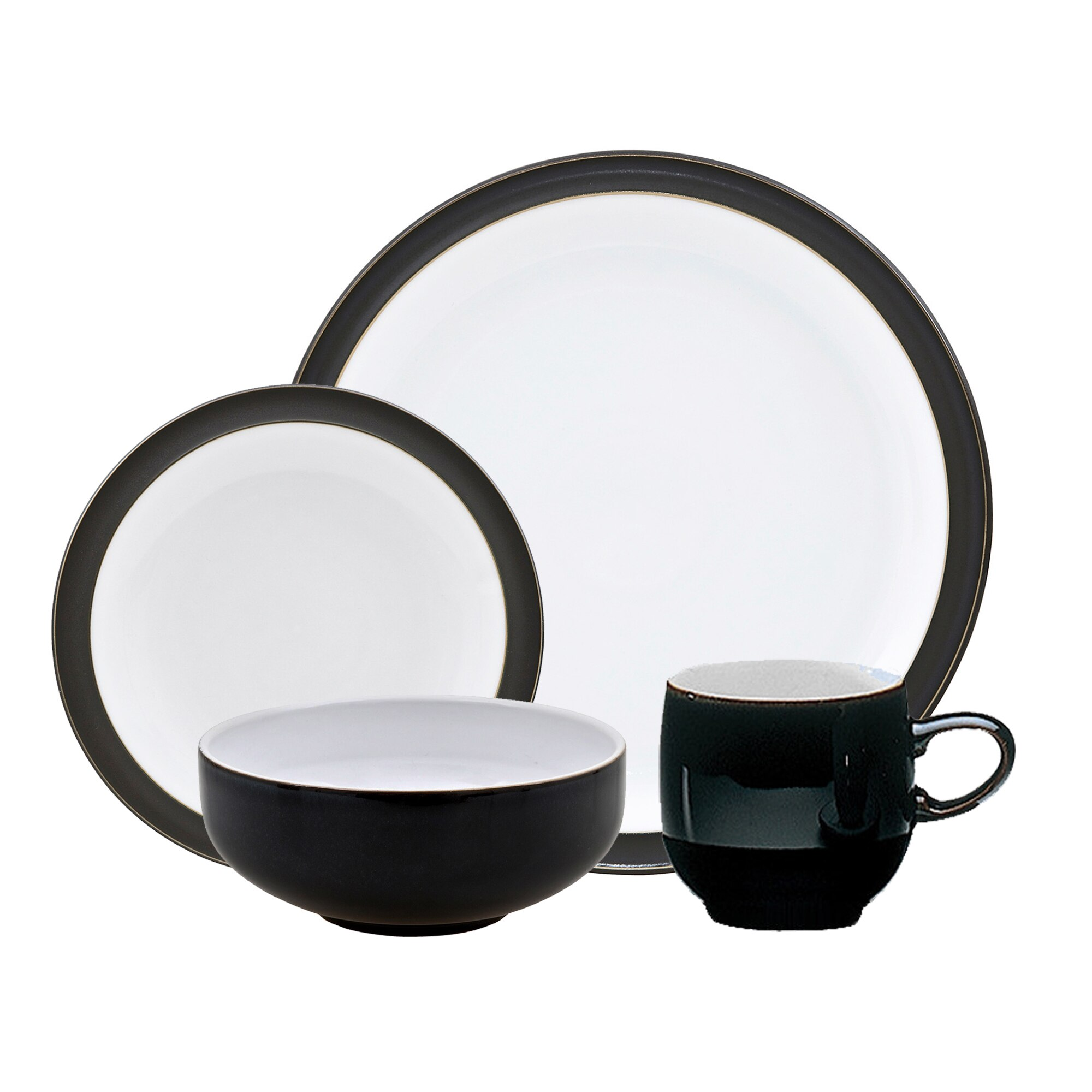 Crockery Jet Black 4 Piece Box Set