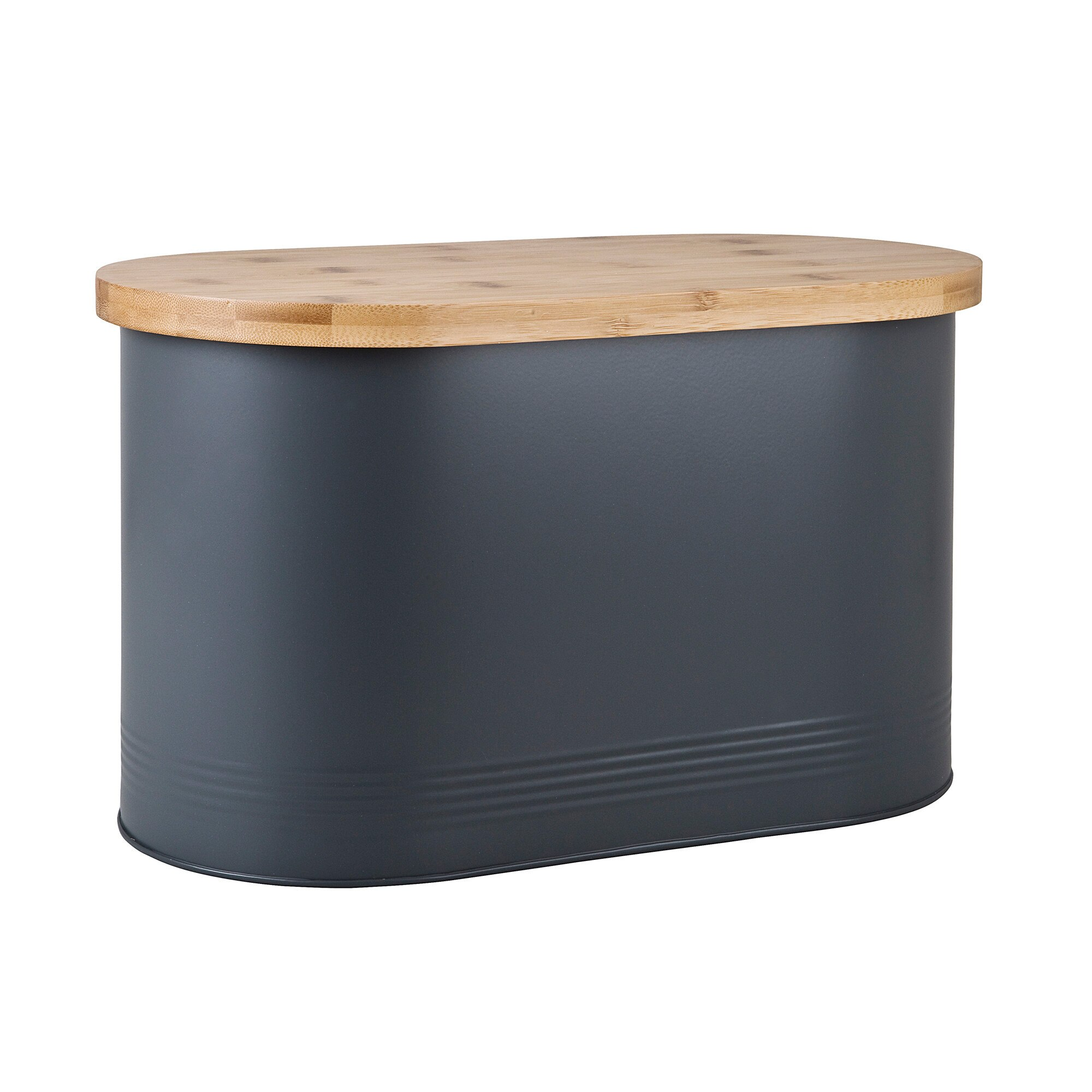 Compare prices for Bread Bin With Bamboo Lid Grey