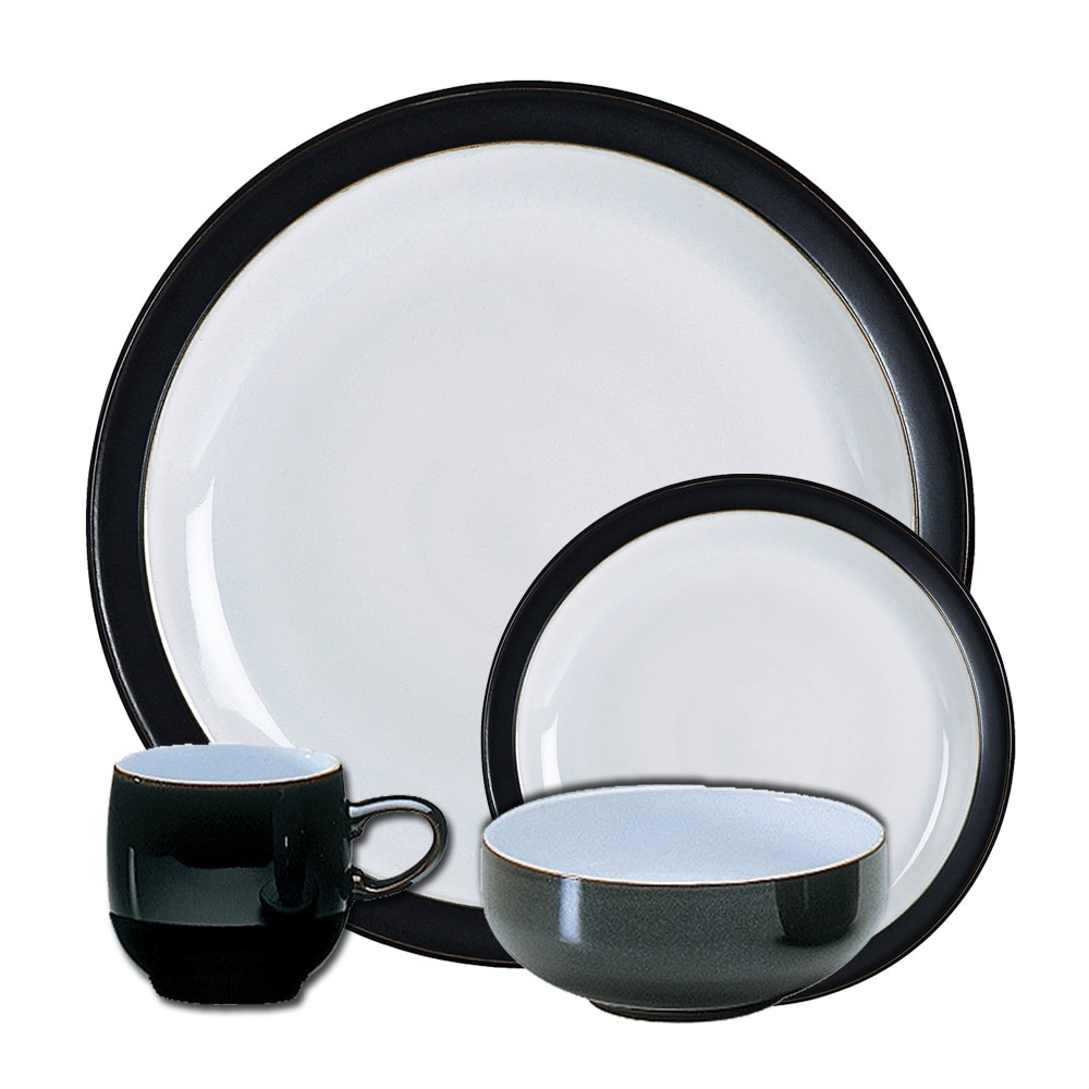Crockery Jet Black 16 Piece Tableware Set