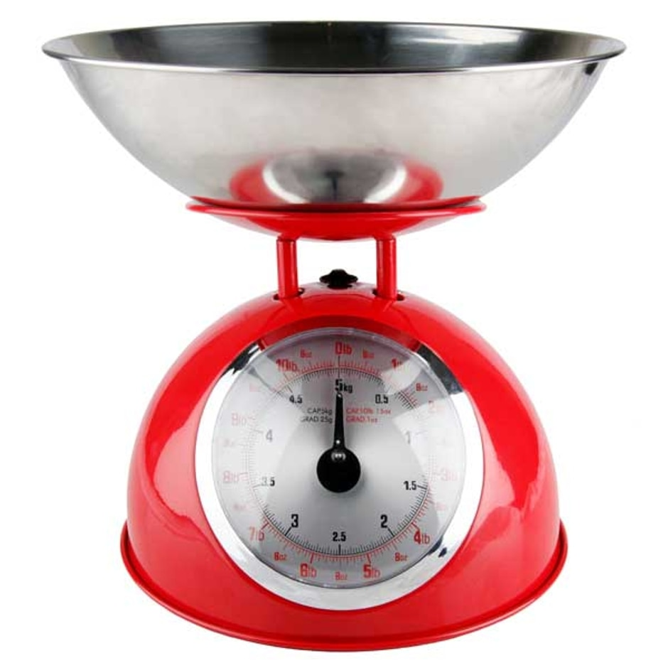 Red Mechanical Kitchen Scales