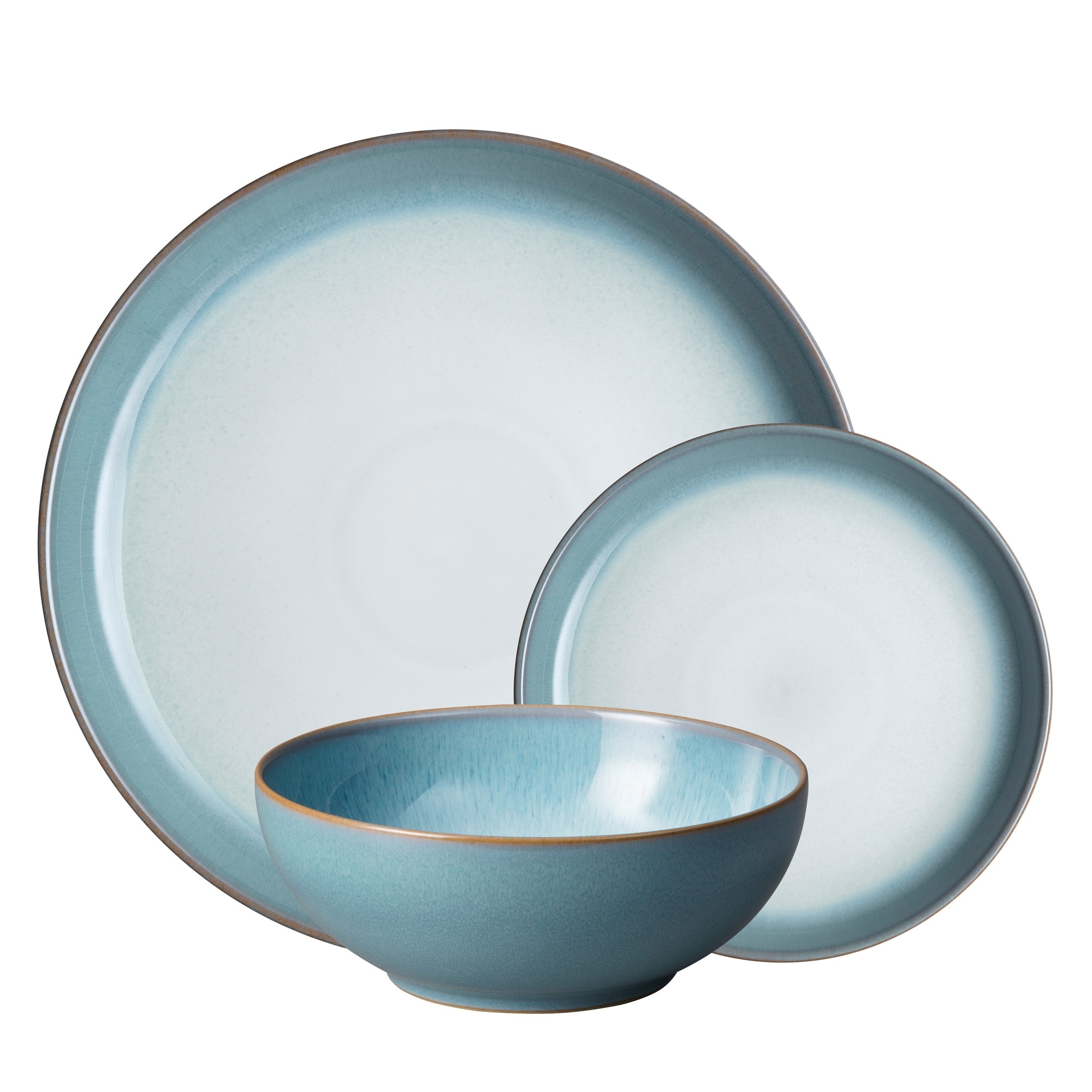 Compare prices for Azure Haze 12 Piece Coupe Tableware Set