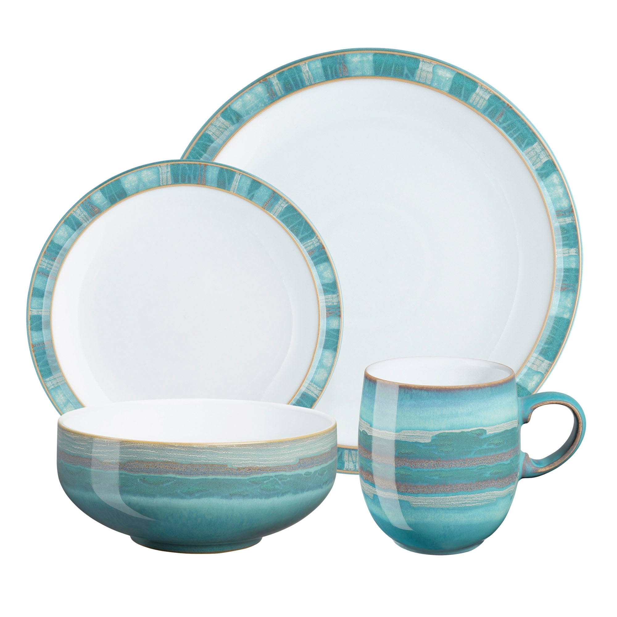 Compare prices for Denby Azure Coast 4 Piece Tableware Set