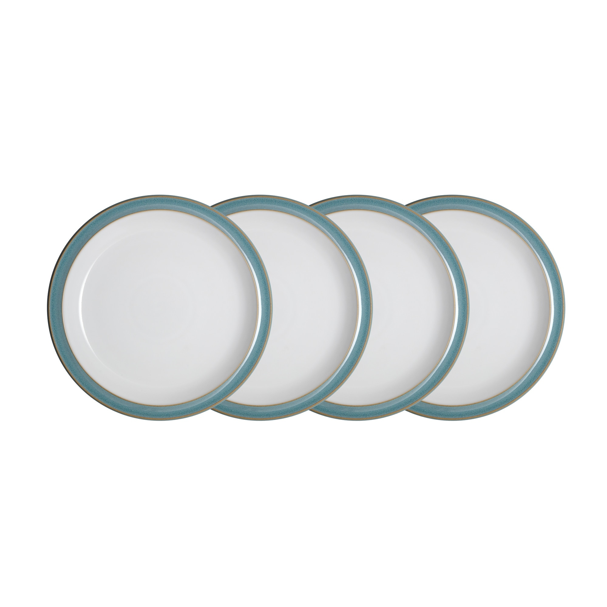 Azure 4 Piece Medium Plate Set