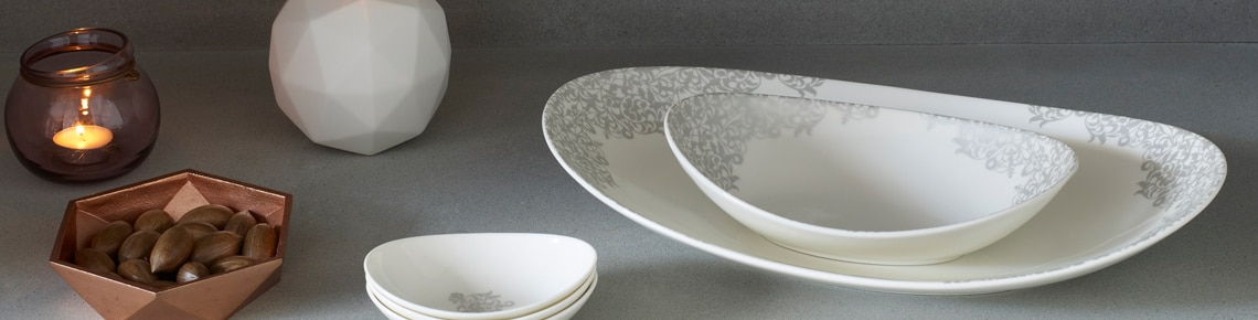& Denby Monsoon Filigree Silver - Styled by Life