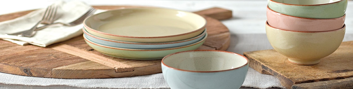 & Denby Plate Sets - Handmade in England