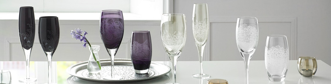 Monsoon Glassware & Denby Monsoon Glassware - Handmade in England