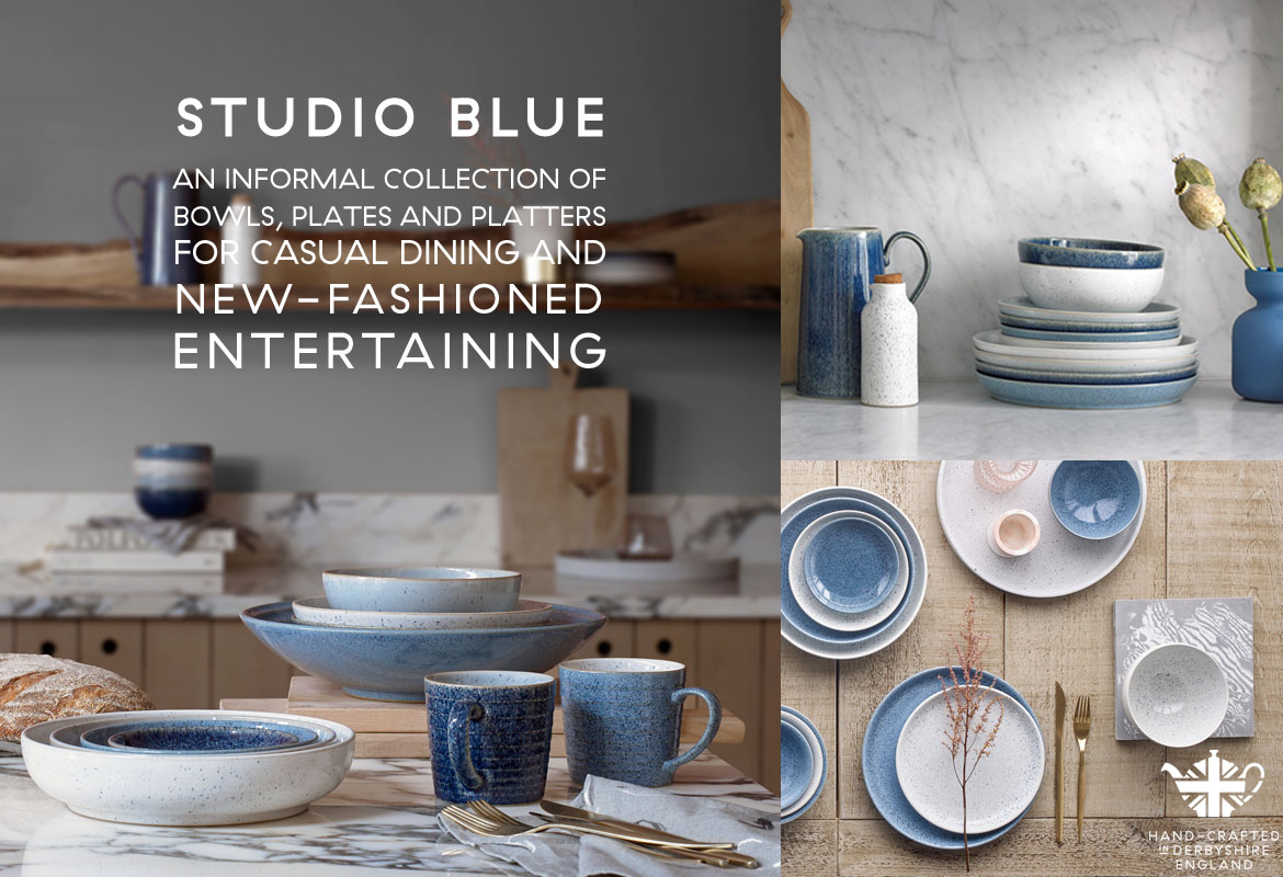 & Introducing Studio Blue | Denby New Collection